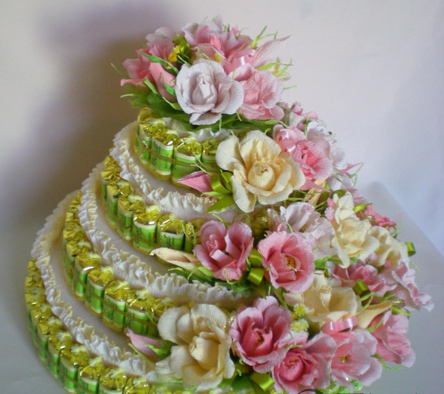Тортик из конфет своими руками фото
